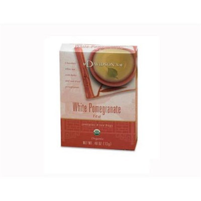 Davidson's Tea Davidson Organic Tea 2244 White Pomegranate Tea Box of 8
