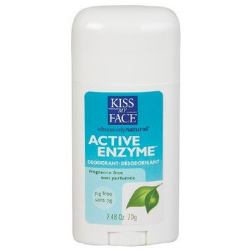 Kiss My Face Active Enzyme Stick Deodorant - Fragrance Free, 2.48 oz.