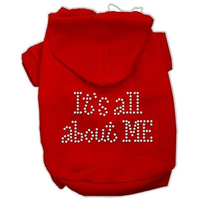 Mirage Pet Products 5403 LGRD Its All About Me Rhinestone Hoodies Red L 14