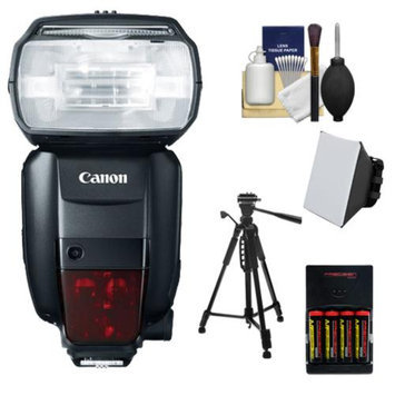 Canon Speedlite 600EX-RT Flash with Tripod + Soft Box + Batteries & Charger + Kit for EOS EOS 6D, 70D, 5D Mark II III, Rebel T3, T3i, T4i, T5, T5i, SL1 Cameras