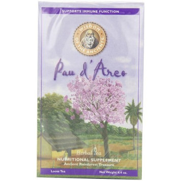 Wisdom of the Ancients Pau d' Arco ( Purple Lapacho) Herbal Tea, Loose Tea, 4.4-Ounce Boxes (Pack of 3)