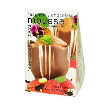 Foxy Gourmet Raspberry Chocolate Mousse Mix, 3.2-Ounce Boxes (Pack of 3)