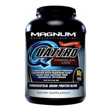 Magnum Nutraceuticals Quattro Supplement, Vanilla Ice Cream, 2 Pound