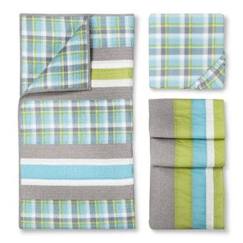 Castle Hill Crib Bedding Set BLU GRN GRY
