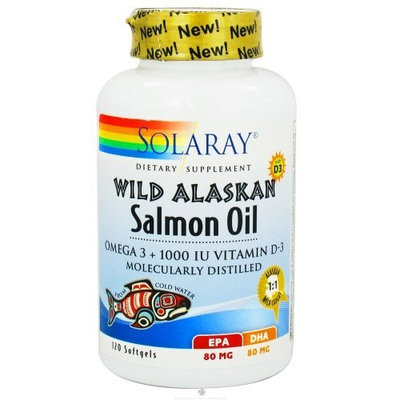 Solaray  Wild Alaskan Salmon Oil 1000mg/1000iu (Manufacturer Out of Stock- NO ETA)