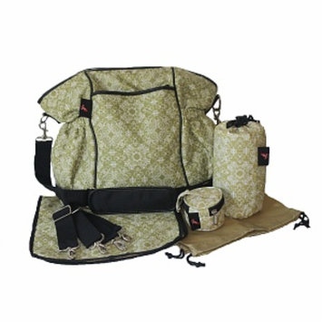 House of Botori Kaira Diaper Tote Filigree Diaper Bag, Sage, 1 ea