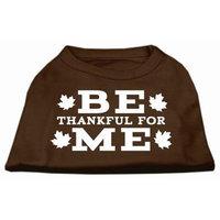 Ahi Be Thankful for Me Screen Print Shirt Brown XXXL (20)
