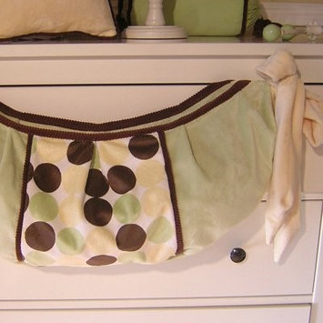 Brandee Danielle Minky Lemon Chocolate Polka Dot Toy Bag