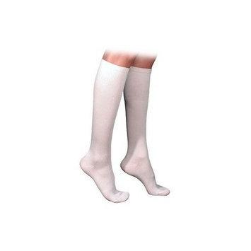 Sigvaris 230 Cotton Series 20-30 mmHg Men's Closed Toe Knee High Sock Size: Medium Long, Color: Navy 10