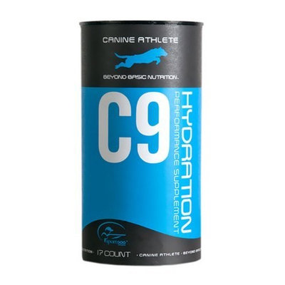 SportDOG Canine Athlete C9 Hydration Supplement - 17-Stick Packs/6 Grams Each