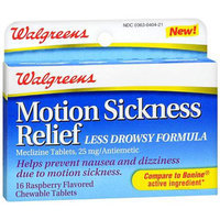 Walgreens Motion Sickness Relief Chewable Tablets
