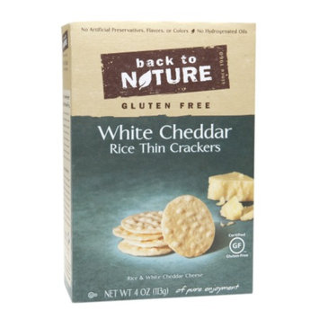 Back to Nature White Cheddar Gluten Free Crackers, 4 oz