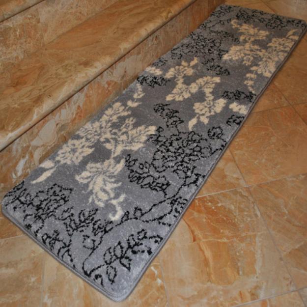 Fashion Street Extra-Long Floral Memory Foam Bath Rug, 1'8