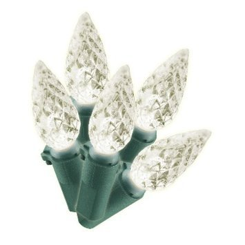 Philips 200ct Warm White LED Faceted C6 String Christmas Lights