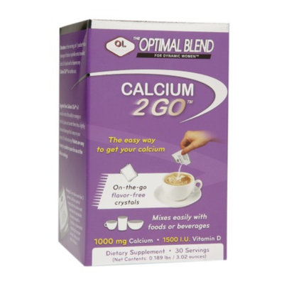 Olympian Labs Optimal Blend Calcium 2 GO On-the-Go Flavor-Free Crystals, 30 ea