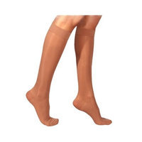 Sigvaris 860 Select Comfort Series 20-30mmHg Women's Closed Toe Knee High Sock Size: M4, Color: Dark Navy 08
