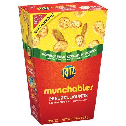 Nabisco Ritz Munchables Cheesy Sour Cream & Onion Pretzel Rounds, 11.5 oz