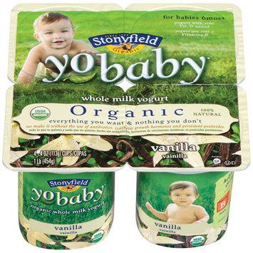 Stonyfield Farm, Yobaby Yogurt,organic, Vanilla, 4/4 Oz (Pack of 6)