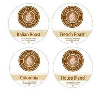 Barista Prima Coffeehouse VARIETY PACK including ~ ITALIAN ROAST, FRENCH ROAST, HOUSE BLEND & COLOMBIA ~ 4 Boxes of 24 K-Cups ~ for Keurig Brewers