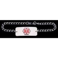 Medical Id Health Enterprises Medical Alert ID Bracelet, VMB (Blank) 8.5 inch chain