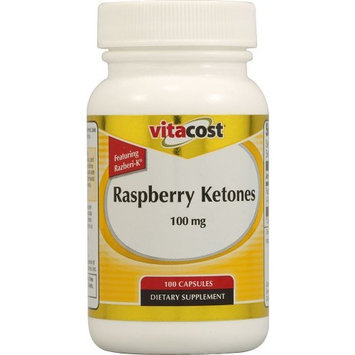 Vitacost Brand Vitacost Raspberry Ketones Featuring Razberi-K® -- 100mg - 100 Capsules (Pack of 2)