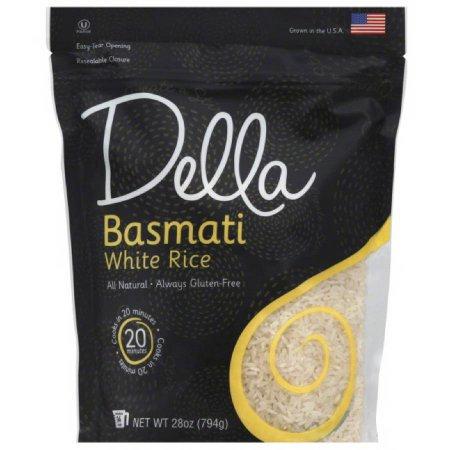 Della Gourmet Della Basmati White Rice, 28 oz, (Pack of 6)