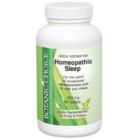 Botanic Choice Homeopathic Sleep Formula, 90 Count (Pack of 2)