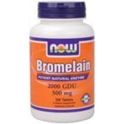 NOW Foods Bromelain 2400Gdu/500mg, 120 Vcaps (Pack of 3 (120 vcaps ea))