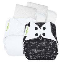Bum Genius bumGenius 4.0 Snap Reusable Diapers - White Multicolored (2 Pack)