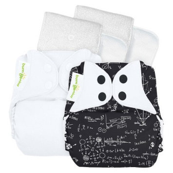 Bum Genius bumGenius 4.0 Snap Reusable Diapers - White Multicolored (2 Pack)