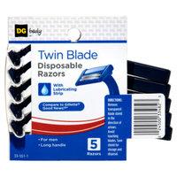 DG Body Men's Twin-Blade Disposable Razors - 5 ct