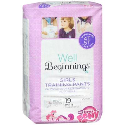 Well Beginnings Premium Training Pants Girl, Jumbo, 4T/5T, 19 ea