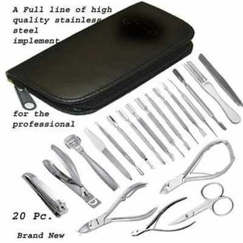Hactor Deluxe 21 Piece Stainless Steel Pedicure / manicure Kit in Black Case.