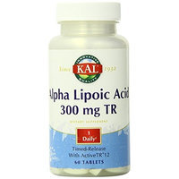 KAL Alpha Lipoic Acid Time Release Capsules, 300 mg, 60 Count
