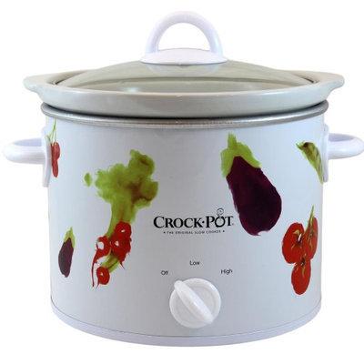Crock-pot Crock Pot 3040 VG 4 Quart Round Shaped Manual Slow Cooker White HHK0KWSBS-1614