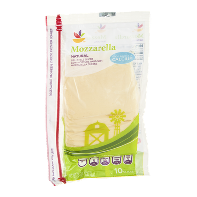 Ahold Cheese Slices Mozzarella - 10 CT