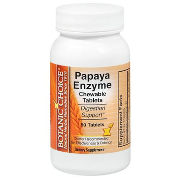 Botanic Choice Papaya Enzyme Dietary Supplement Chewable Tablets