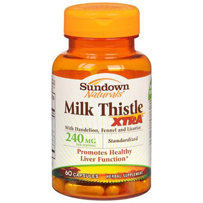 Sundown Naturals Milk Thistle Xtra 240 mg Per Serving Dietary Supplement Capsules