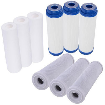 Yescomusa Oem 9 pc Reverse Osmosis Replacement Filter Set RO Water Sediment Carbon Block GAC