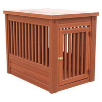 New Age Pet s Chestnut Eco Habitat 'N Home Indoor Dog Crate