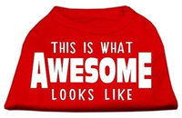 Ahi This is What Awesome Looks Like Dog Shirt Red XXL (18)