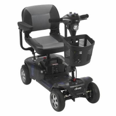 Drive Medical Phoenix 4 Wheel Heavy Duty Scooter, Red, Blue, 17.5 Inch Folding Seat, 1 ea