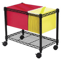 Vertical Filing Cabinet: Safco Wire One-Shelf Mobile Filing Cart -
