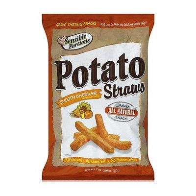 Sensible Portions Smooth Cheddar Straws Potato Chips