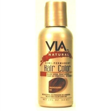 Via Natural 2oz Semi Perm Hair Color #094 Mahogany