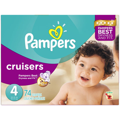 Babies R Us Pampers Diapers Cruisers Size 4 Super 74 count