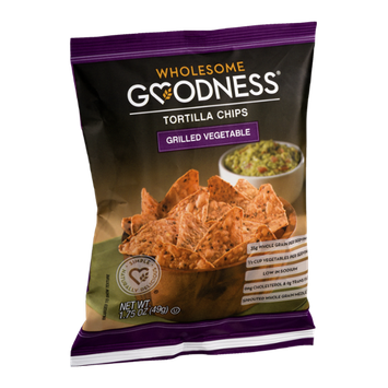 Wholesome Goodness Tortilla Chips Grilled Vegetable