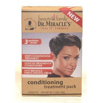 Dr. Miracle's Deep Conditioning Treatment Pack, 3 Count