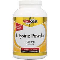 Vitacost Brand Vitacost L-Lysine Powder -- 435 mg per serving - 1 lb