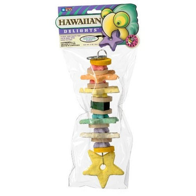 Pink Parrot Hawaiian Delights Cookies/Mini-Blocks, Small to Medium, Bag/Hdr